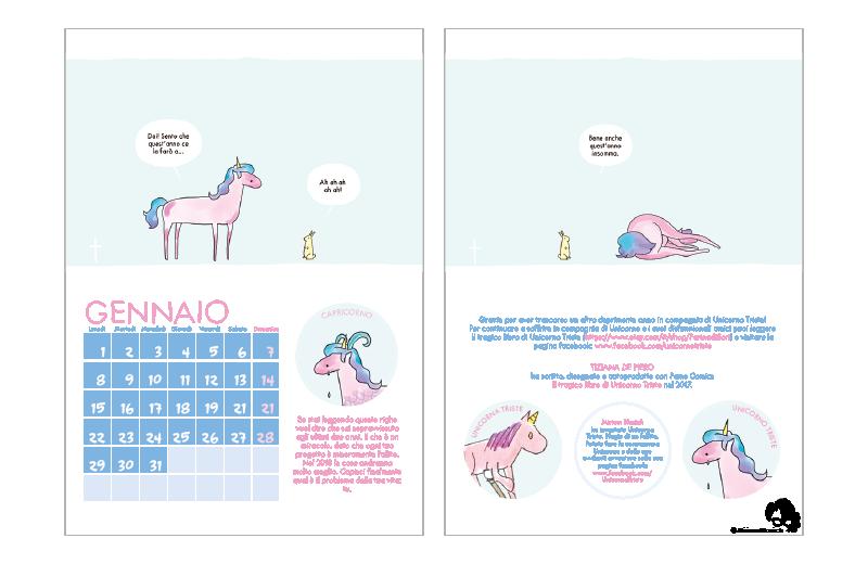 Calendario unicorno triste for Unicorno triste